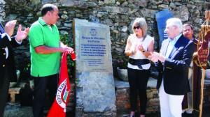 11 descerramento da placa de inauguração por Casimiro Vicente e Lurdes Castanheira DR