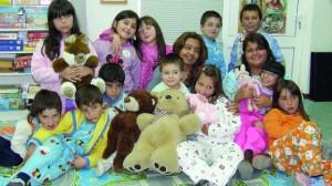 12 alunos de Folques em pijama em 2012 DR