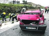 Aparatosa colisão no IC2 em Cernache faz dois feridos
