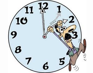 mudança hora