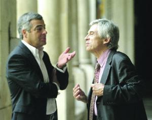 Assistente Carlos Alberto junto do advogado Castanheira Neves. FOTO LUÍS CARREGÃ