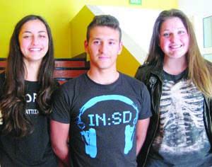 Jéssica Pereira, João Figueiredo e Beatriz Alves representam a Figueira da Foz. FOTO CLÁUDIA TRINDADE