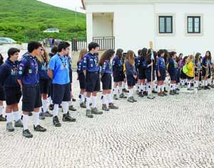 Grande jogo das guarnições iniciou no farol do Cabo Mondego. FOTO CLÁUDIA TRINDADE