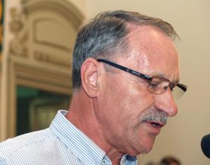 Presidente da junta demissionário, António Samuel. FOTO JOT'ALVES