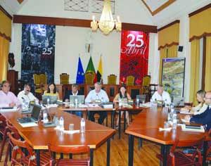 Reunião do executivo municipal de Montemor-o-Velho. FOTO DR