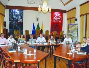Reunião do executivo municipal de Montemor-o-Velho. FOTO DR