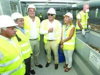 A presidente da CCDRC, Ana Abrunhosa, visitou a RCD - Resíduos de Construção e Demolição. FOTO LUÍS CARREGÃ