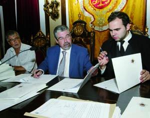 Carlos Cidade, Manuel Machado e Bruno Matias. FOTO LUÍS CARREGÃ