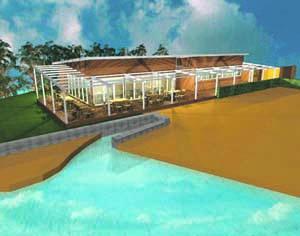 Club House deverá ser o primeiro a ser construído. FOTO DR