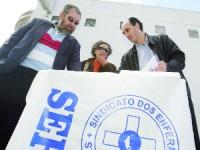 Enfermeiros com adesão à greve superior a 70 por cento