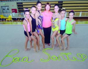 Nina Chevts reconhece a capacidade das jovens atletas de Coimbra. FOTO CARLOS JORGE MONTEIRO