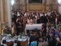 Uma escola inteira chorou no adeus à Inês e à sua mãe