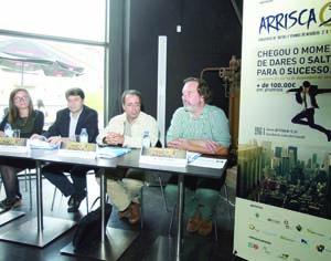 Ana Duarte (IPN), Paulo Sanches (IPC), Amílcar Falcão e Jorge Figueira na apresentação do concurso. FOTO DB/LUÍS CARREGÃ