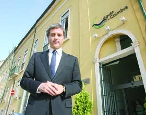 Pedro Coimbra, presidente da Águas de Coimbra. FOTO DB/LUÍS CARREGÃ