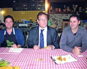 Ricardo Torres, João Ataíde e Luís Caetano na apresentação do evento. FOTO DB/CLÁUDIA TRINDADE