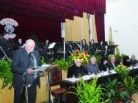 António Leitão levou os presentes numa viagem pelo centenário de uma instituição que promove a cultura. FOTO DB/CARLOS JORGE MONTEIRO