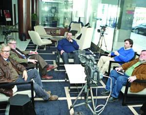 José Manuel Ferreira da Silva, José Augusto Ferreira da Silva, António Alves, Paulo Leitão e Francisco Queirós. FOTO DB/LUÍS CARREGÃ