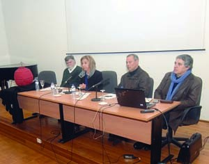Fernando Mendes, Adília Ramos, Henrique Armindo e João Redondo. FOTO DB/CARLOS JORGE MONTEIRO