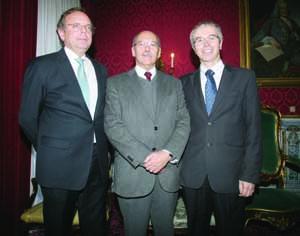 Rui Marcos, Santos Justo e João Gabriel Silva. FOTO DB/LUÌS CARREGÃ
