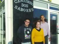 Daniel Coelho, Sandra Fernandes e Gabriel Reis. FOTO DB/CARLOS JORGE MONTEIRO