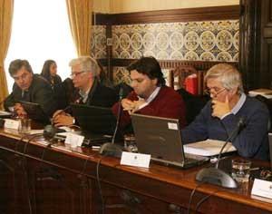 """Bancada da Coligação """"Por Coimbra"""" no executivo municipal de Coimbra. FOTO DB/LUÍS CARREGÃ"""