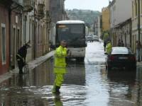 Chuva intensa provoca o caos na cidade de Coimbra