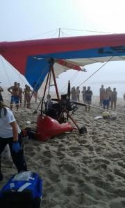 Queda de asa delta provoca  um morto na Praia de Mira