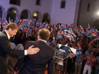 Marques Mendes no comício da coligação hoje, terça-feira, em Coimbra