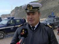 Gomes Agostinho, capitão do Porto da Nazaré (foto TVI)
