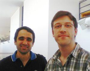 Marco Gomes e João Vilela, investigadores da FCTUC - Foto DR