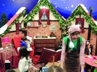 Multidão na chegada do Pai Natal aos centros comerciais