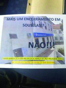 Souselas sai à rua contra fecho do balcão da CGD