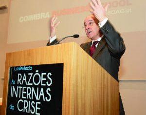 Rui Rio no ISCAC, há pouco mais de um ano, quando proferiu uma conferência