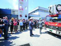 Corporação assinalou 113 anos com homenagem a bombeiro de 92