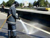 Camião derramou derivado de petróleo na zona de Coimbra