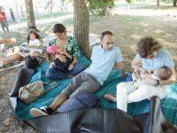 Amamentação em grupo para sensibilizar as mães