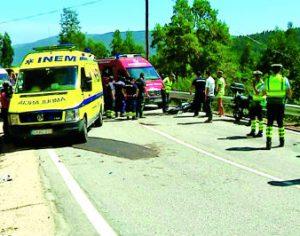 Colisão entre três motas e um carro faz 4 feridos em Góis