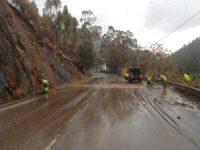 Estrada da Beira inundada na Tapada de Ceira
