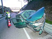 Ferida ligeira em acidente violento