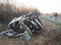 Três feridos em acidente no IC6 junto a Espariz
