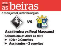 DIÁRIO AS BEIRAS oferece bilhetes para jogo da Académica este sábado