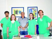 Equipa cirúrgica: André Pinto, Rita Fideles, Martins Nunes, Joana Bonito e Alexandre Marques