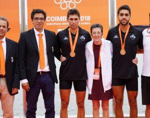 Remo foi o destaque do dia dos Jogos Europeus Universitários