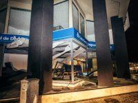 Agência da Caixa Geral de Depósitos de Buarcos, Figueira da Foz, destruída pelo vento