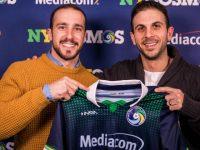 DR - Pedro Galvão (à esquerda) e o técnico Carlos Mendes (direita)
