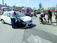Três mulheres feridas  em acidentes