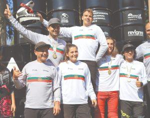 Campeões nacionais de DHI coroados em Préstimo, Águeda - Foto FP Ciclismo