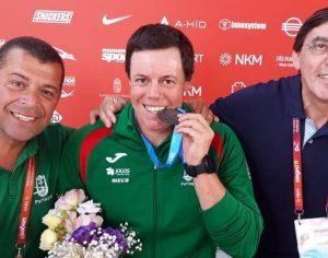 DR CPP O vice-campeão do mundo Norberto Mourão com o Presidente da Federação Portuguesa de Canoagem, Vítor Félix e o Presidente do Comité Paralímpico de Portugal, José Manuel Lourenço