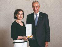Fernando Namora condecorado com  a Grã-Cruz  da Ordem  da Liberdade