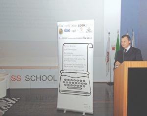 João Palmeiro, presidente da Associação Portuguesa de Imprensa, na sessão de abertura do evento